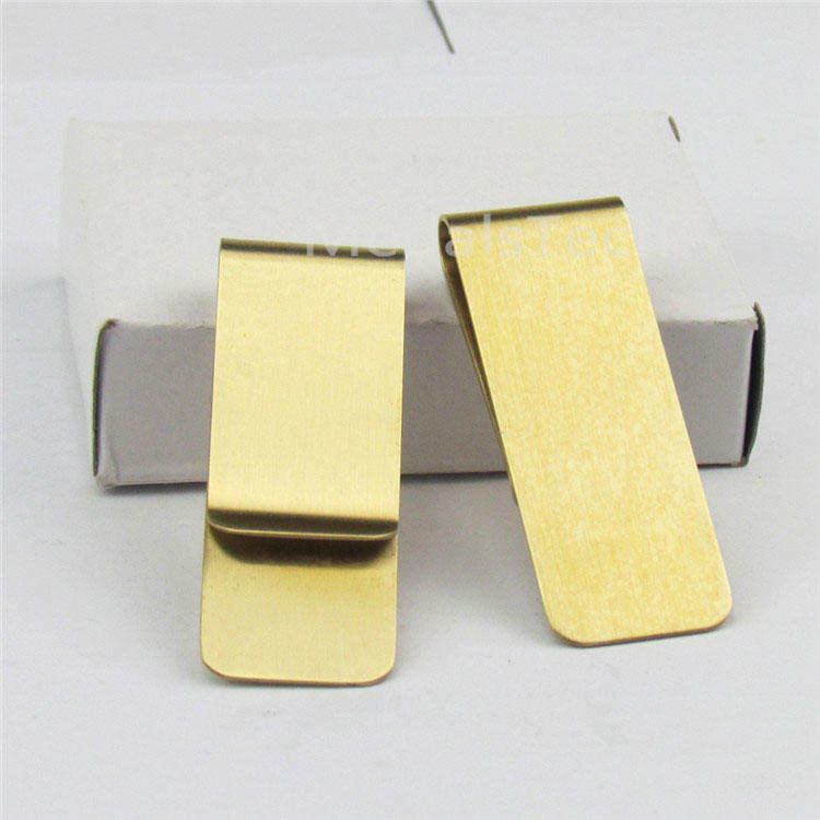 Factory direct sale cheap metal brass money clip with customized etched logo