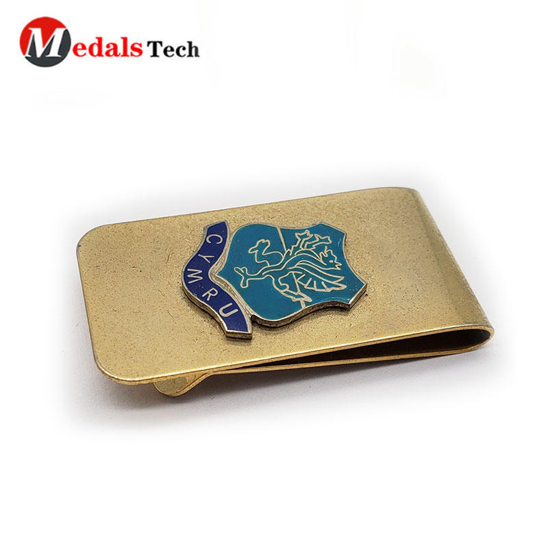 2020 promotion custom cheap metal pocket money clip for girls