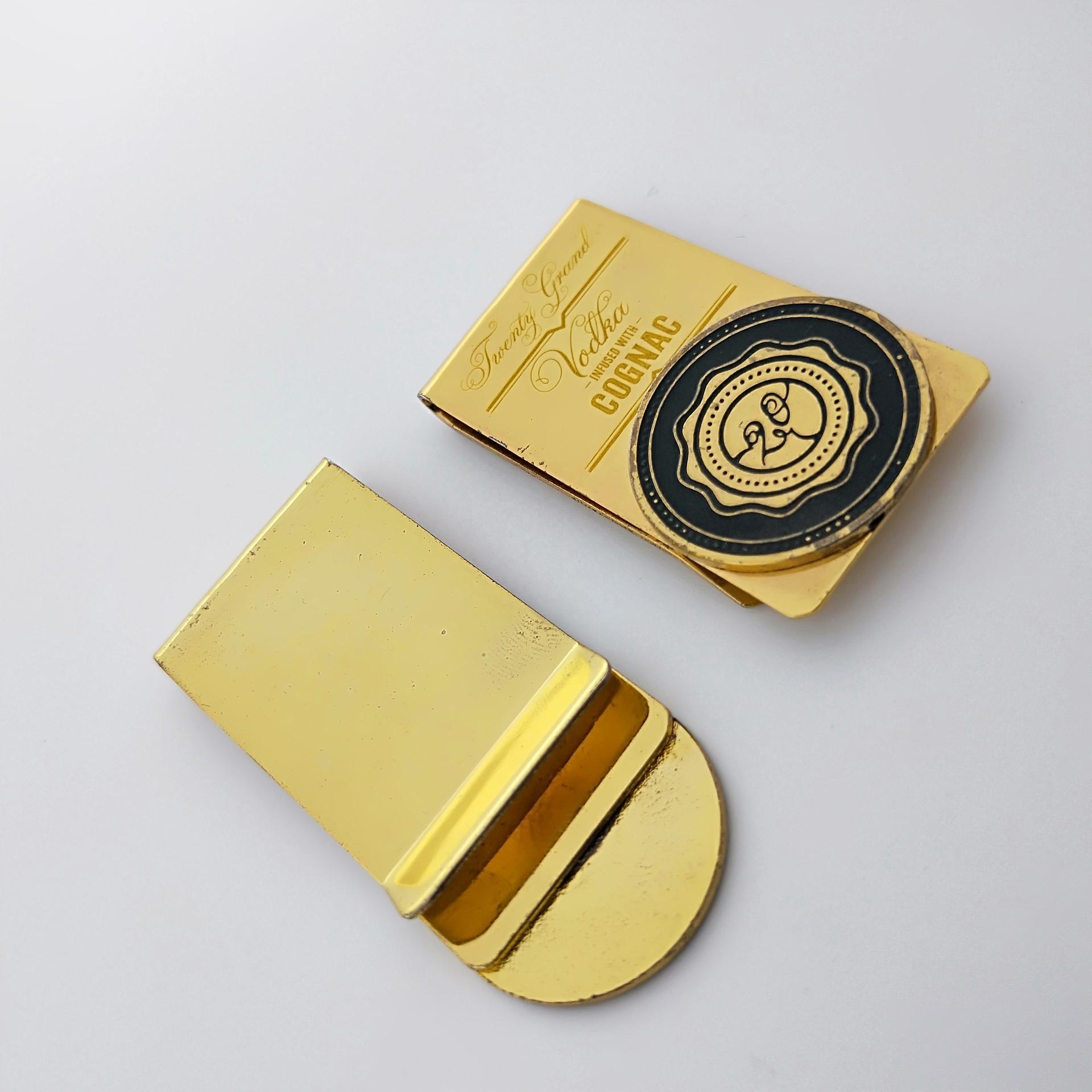 No MOQ customized unique cool men's money clip for police