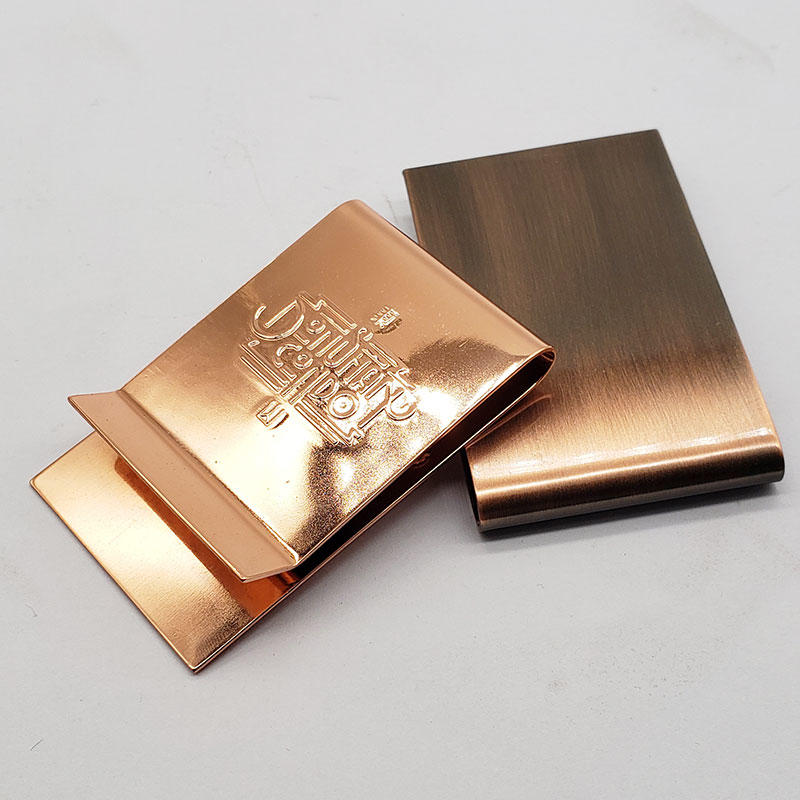 Wholesale custom logo blank stainless steel metal money clip for sale