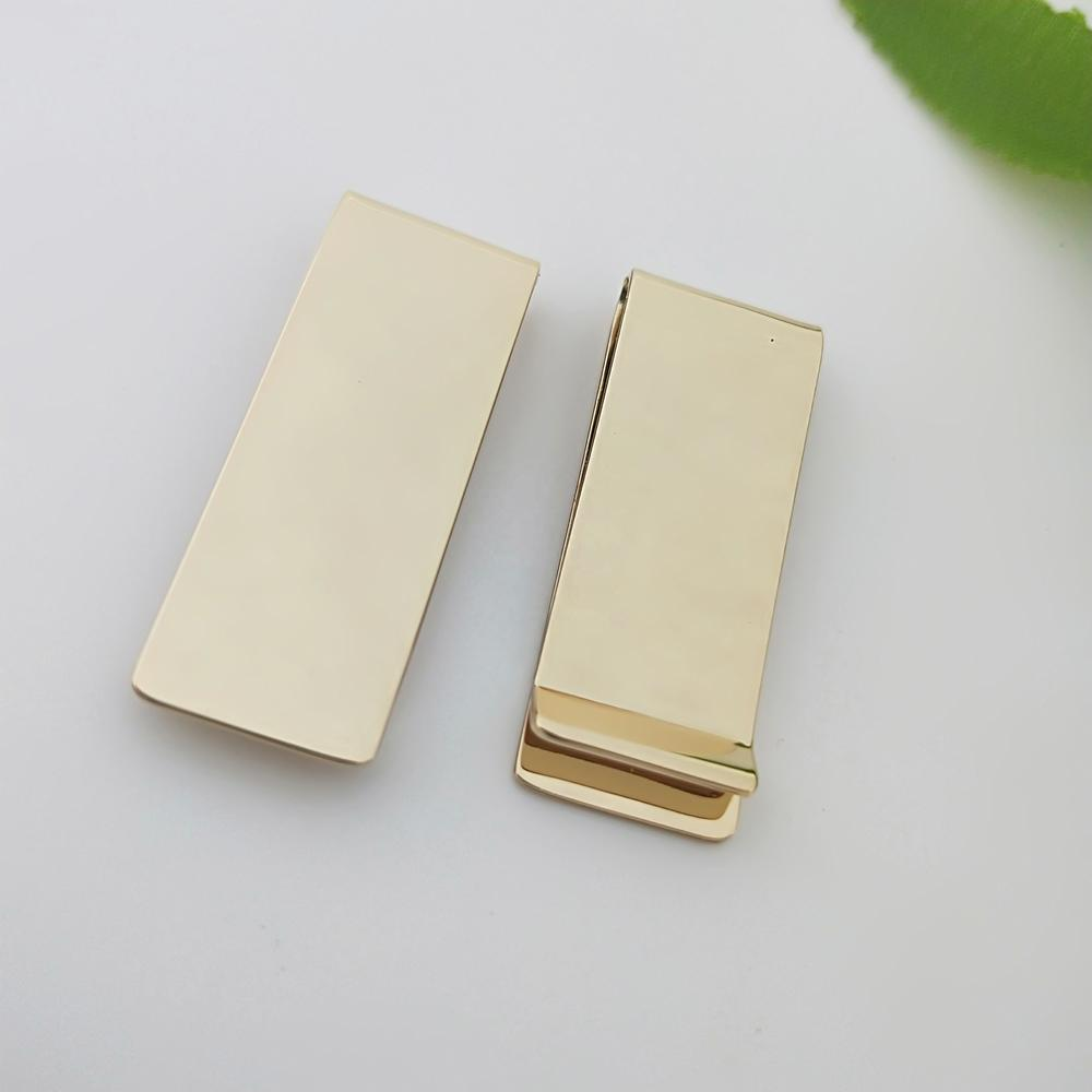 Top quality personalized gold plated money clip in brass