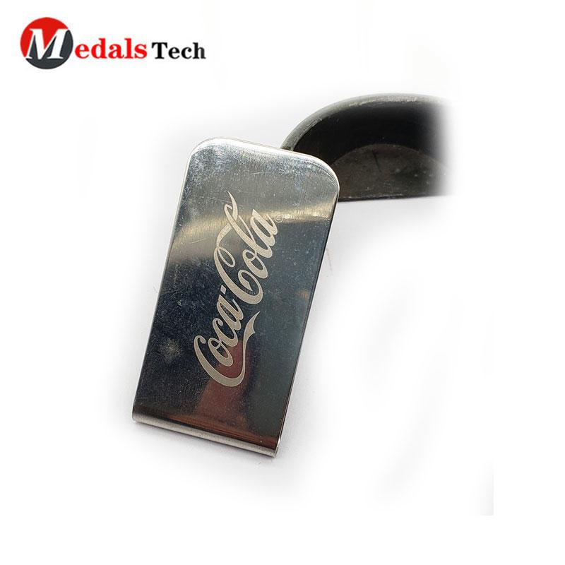 Wholesale custom logo blank stainless steel metal money clip for sale