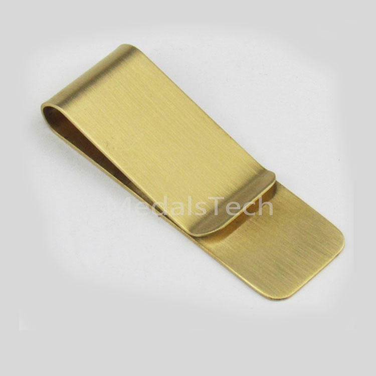 Classical 304 brass embossing printing stainless steel black masonic money clip
