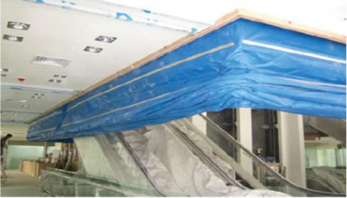 High Performance 3 Hours Inorganic Fabric Smoke Curtain Roller Door Fire Curtain Rolling Shutter Door