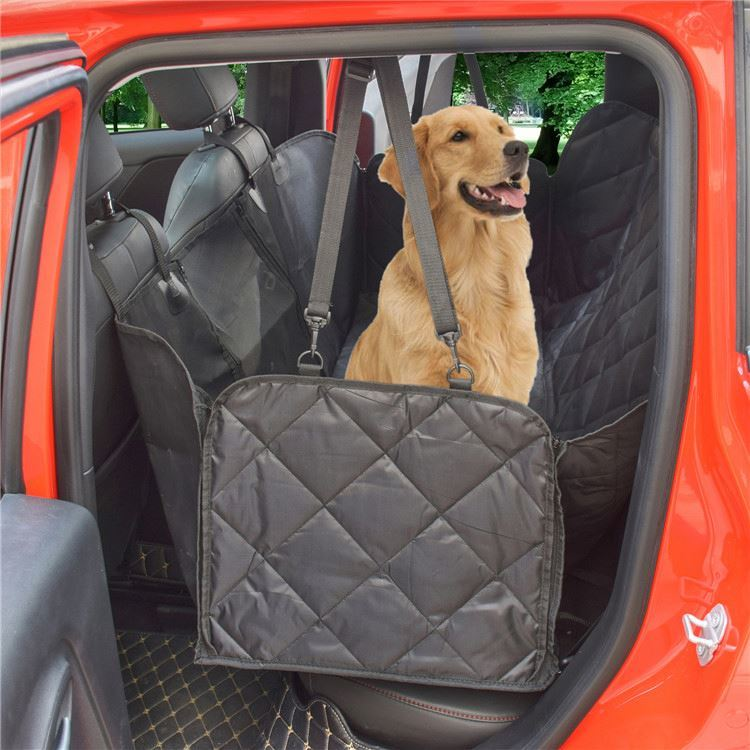 product-Osgoodway-Osgoodway Heavy Duty Pet Car Seat Cover Hammock with Mesh Window-img