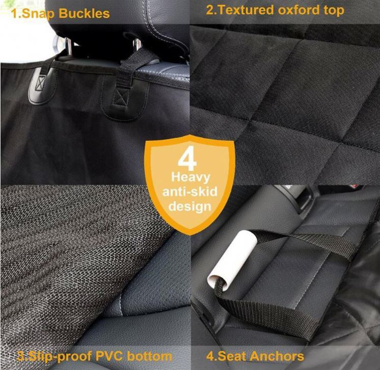 product-Osgoodway-Osgoodway OEM 4 Layers Quilted Pet Car Seat Cover Waterproof Car Seat Dog Cover wi