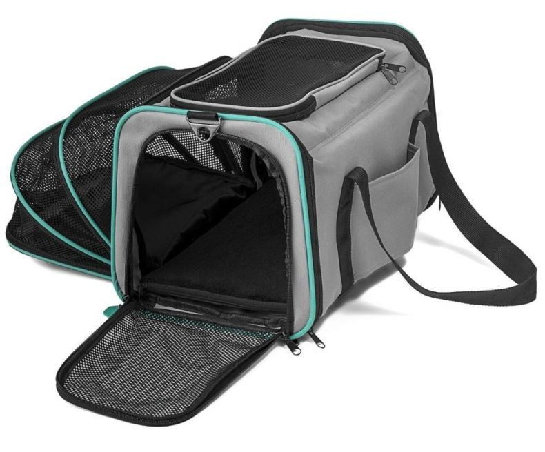 Osgoodway Cat Carrier Foldable and Expandable Soft Sided Dog Carrier Travel Bag for Pet