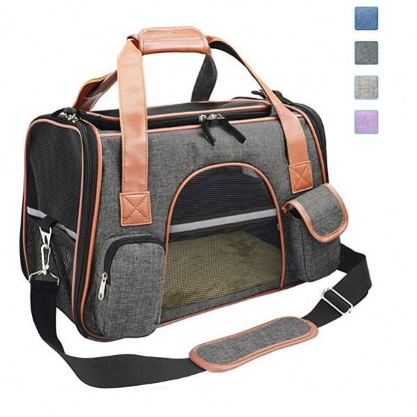 Osgoodway OEM Airline Approved Size Breathable Large Travel Pet Carrier Bag for Dogs Cats