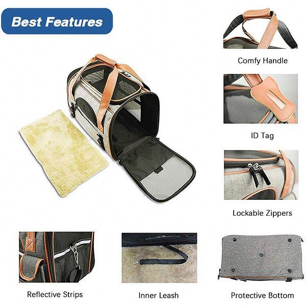 product-Osgoodway-Osgoodway OEM Airline Approved Size Breathable Large Travel Pet Carrier Bag for Do