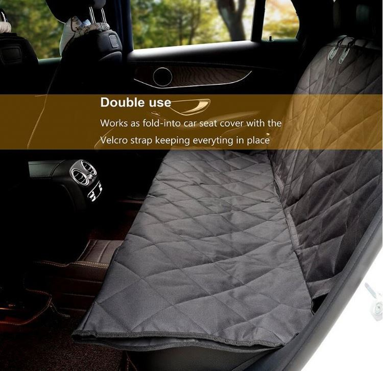 product-Osgoodway OEM 4 Layers Quilted Pet Car Seat Cover Waterproof Car Seat Dog Cover with Anti-Sl-1