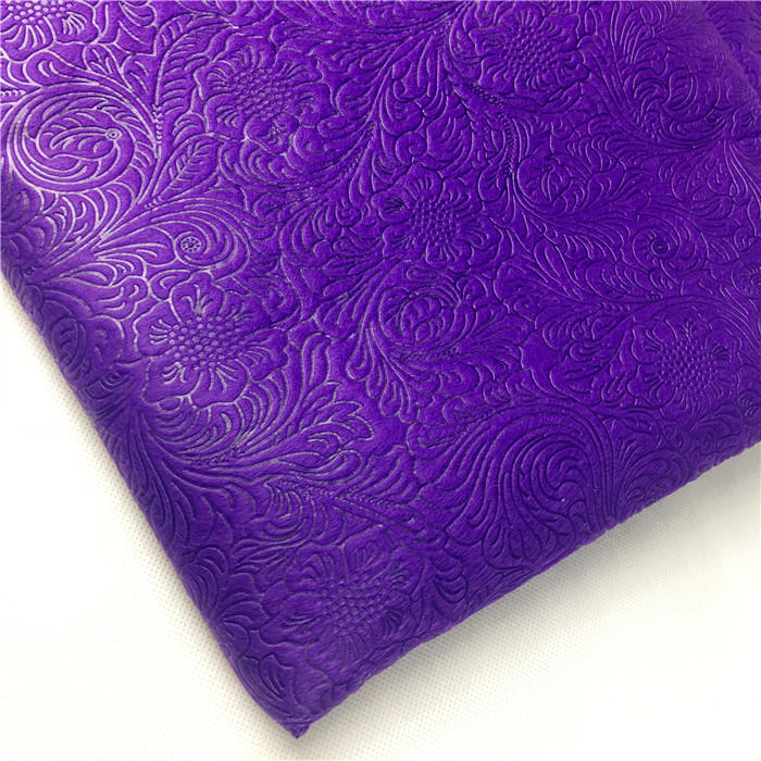 Factory supply 100% PP embossed non woven fabric for gift wrapping / flower bouquets packaging