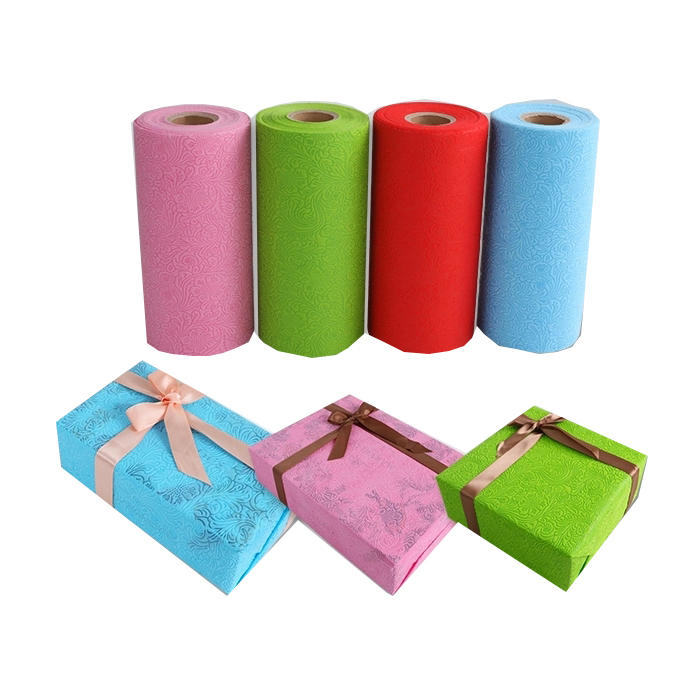 New Design Embossing PP Non Woven Paper For Gift and Flower Packing