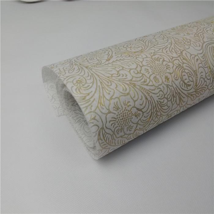 New Year 2019 /Christmas design Emboss Nonwoven Fabric