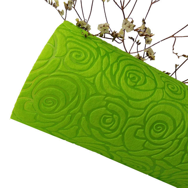 Gift wrapping material use colorful any size embossed nonwoven fabric