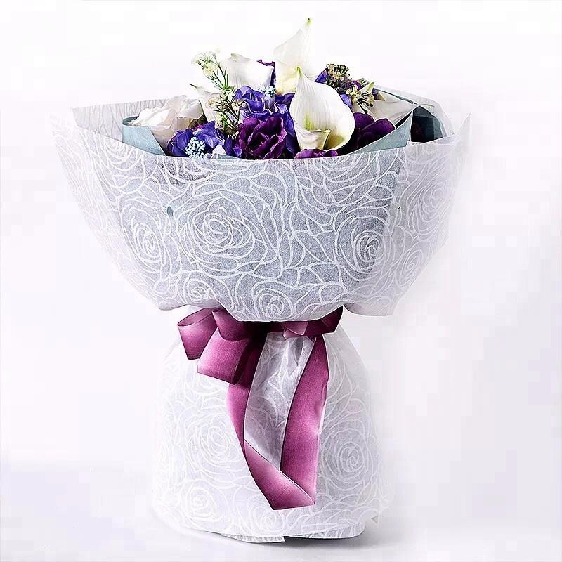 non woven fabric flower bouquets packaging flower wrapping paper