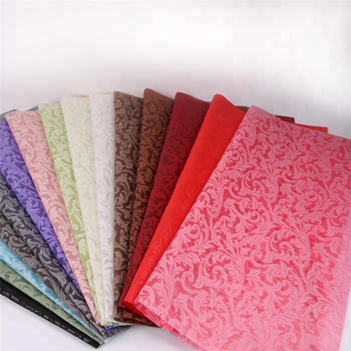 High-qualitycommon/embossed 100%pp spunbond non-woven fabric for Flower wrapping,Weeding decoration