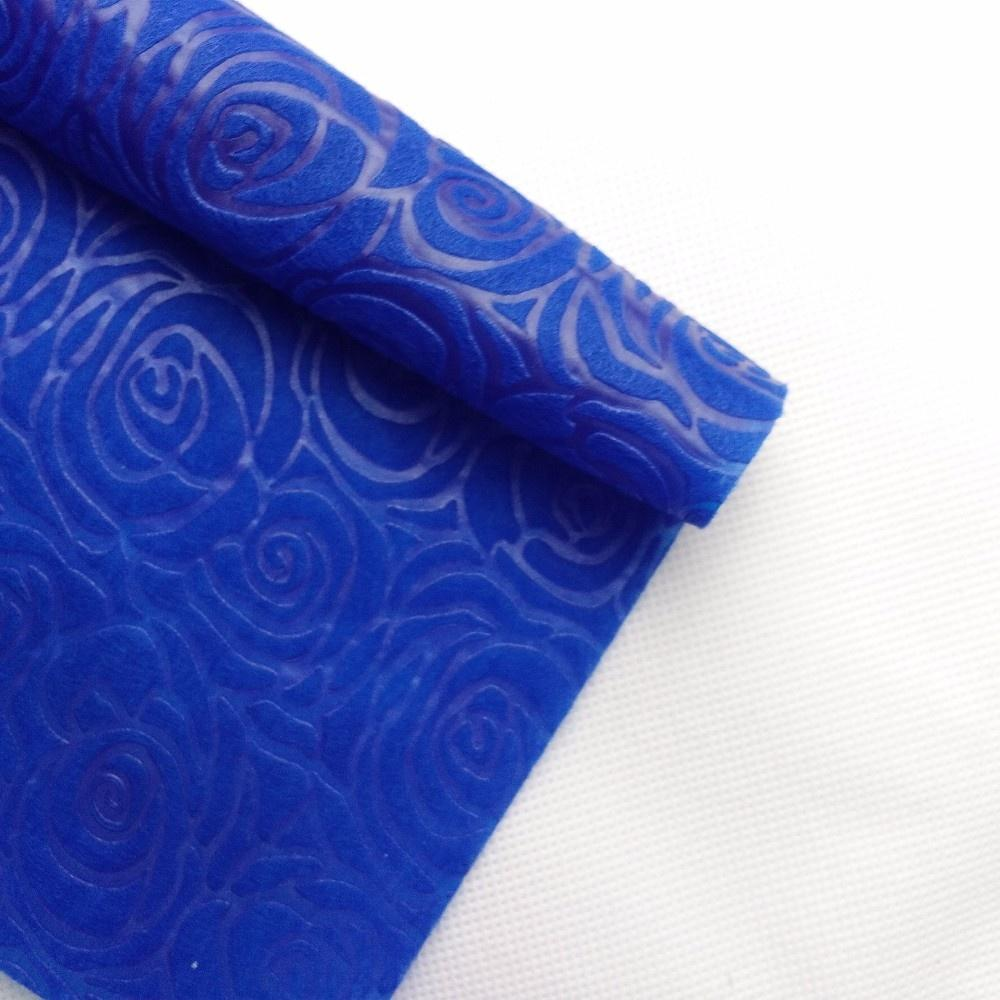 Colorful EmbossPp SpubondedNonwoven Fabric, Wrapping Flowers Embossed Tnt Non Woven Fabric Rolls