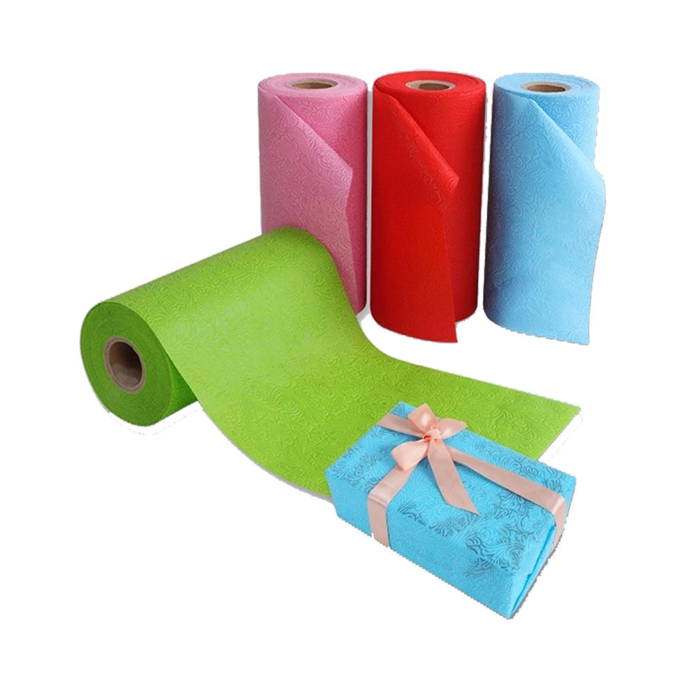 2018 New emboss nonwoven fabric for gift package