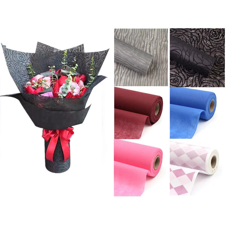 tela no tejida spunbond 2019 Hot sale 100% pp spunbond flower wrapping nonwoven fabric
