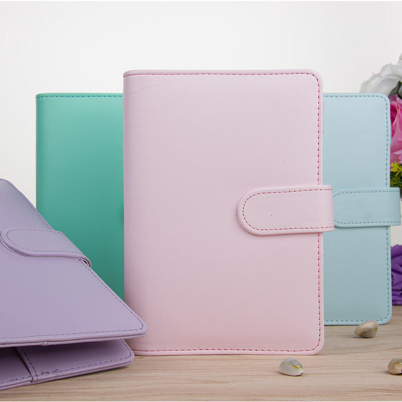 Colorful A5 A6 PU Leather Traveler's Notebook Planner With Ring Binder