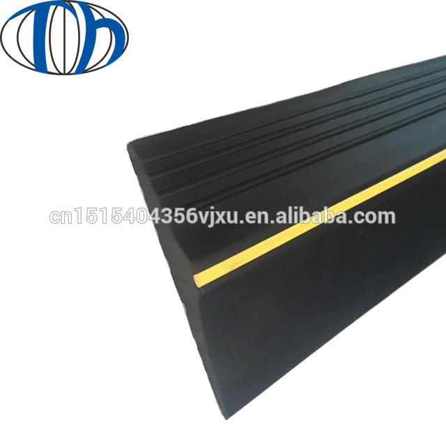 Black EPDM rubber seal garage door threshold ramp weather strip