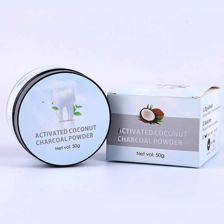 Natural activated charcoal teeth whitening powder for sensitive teeth