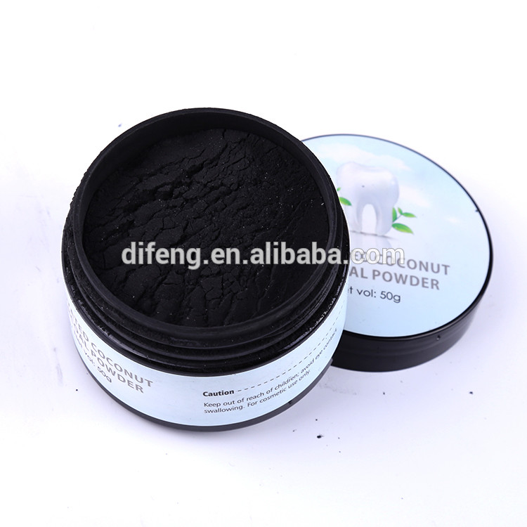 Natural safe private label teeth whitening activated charcoal powder 2oz