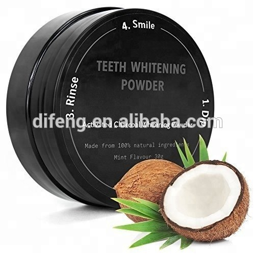 approved powder teeth whitening activated coconut charcoal powder