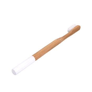 Wholesale kids bamboo toothbrush round handle custom