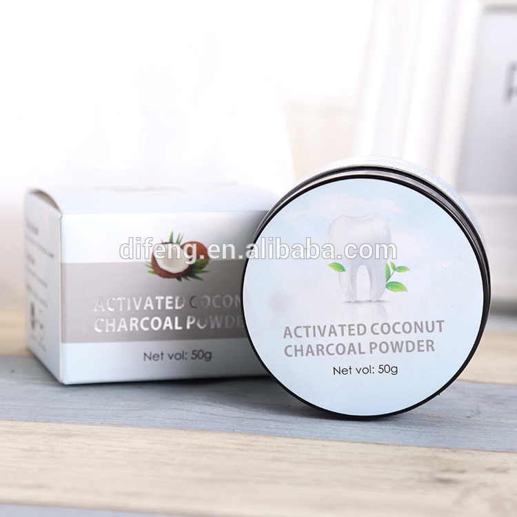 wholesale custom packages teeth whitening charcoal powder 50 gm