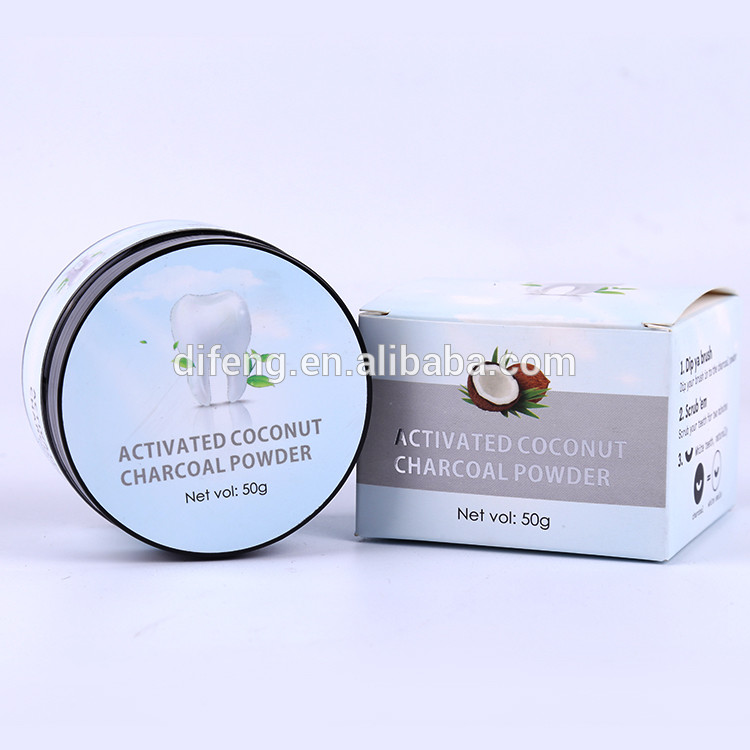 Activated charcoal teeth whitening-mint flavor-private label-certified regulated coconut charcoal powder