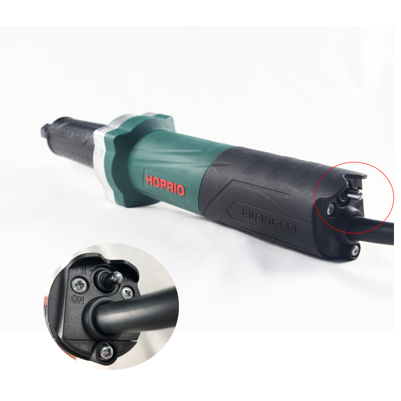 HOPRIO Long Neck Angle Grinder 1050W Brushless Die Grinder 6mm 6.35mm 8mm