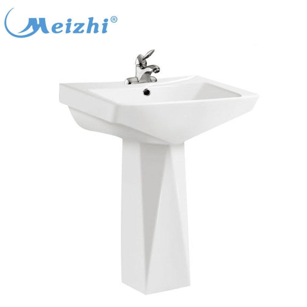China bathroom luxury pedestal basin hand wash sink prices