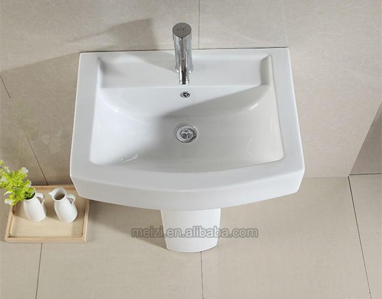 Bathroom Corner pedestal sink,hand wash basin with pedestal
