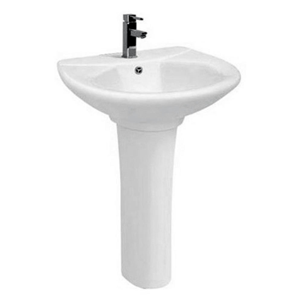 Bathroom sanitary ware pedestal white porcelain sink