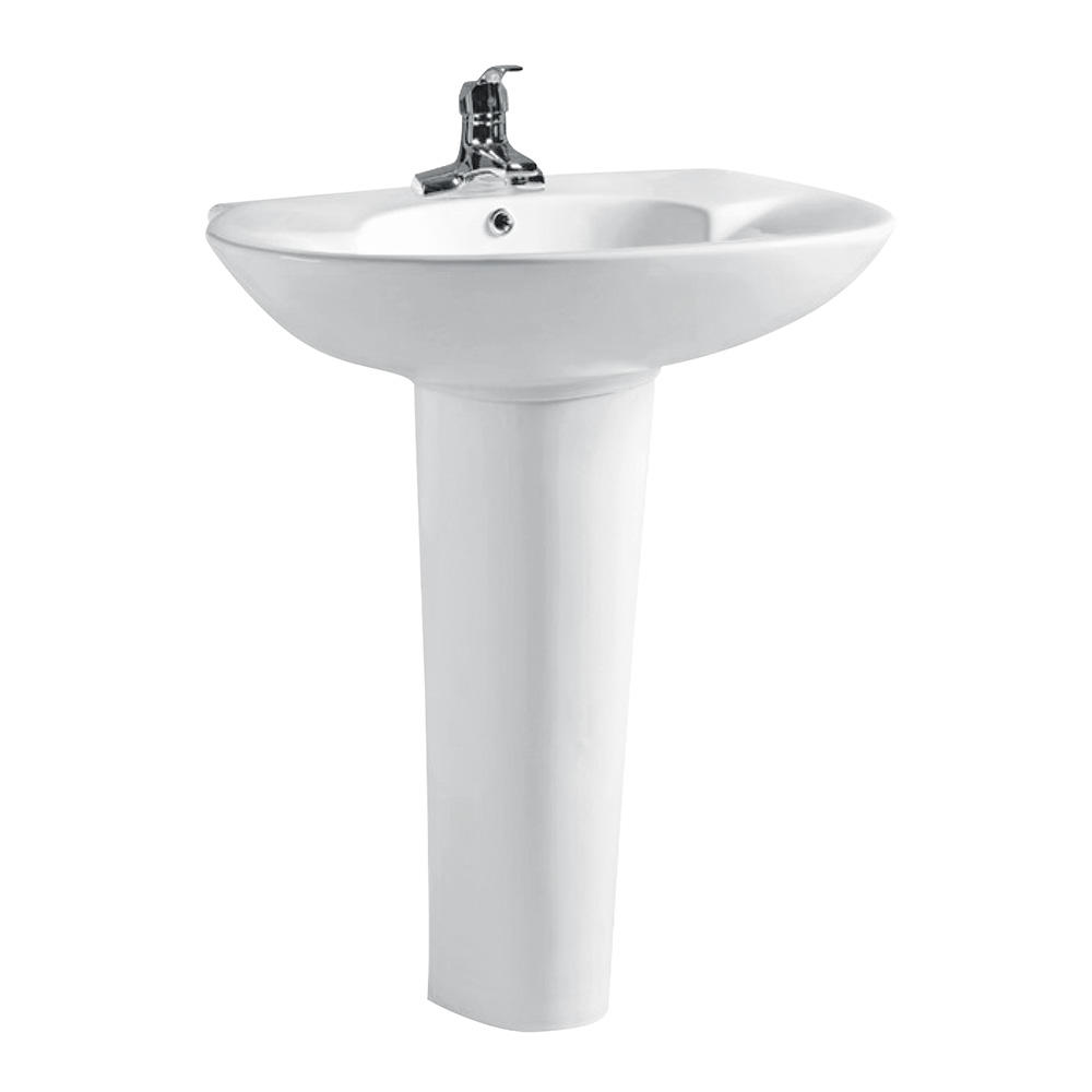 Bathroom china pedestal type wash basin