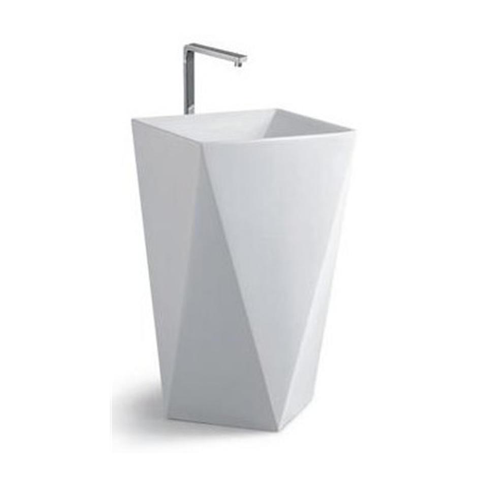 Modern design ceramic china metal wash basin stand
