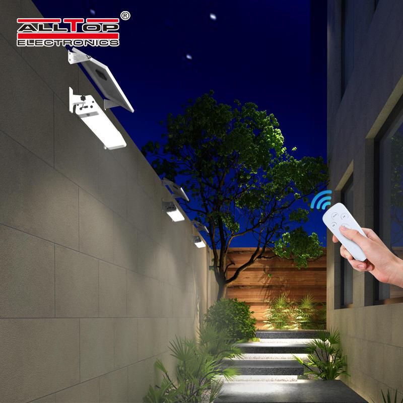ALLTOP High quality USB charge PIR sensor residential lighting smd 20w 40w 60w led solar tri proof light