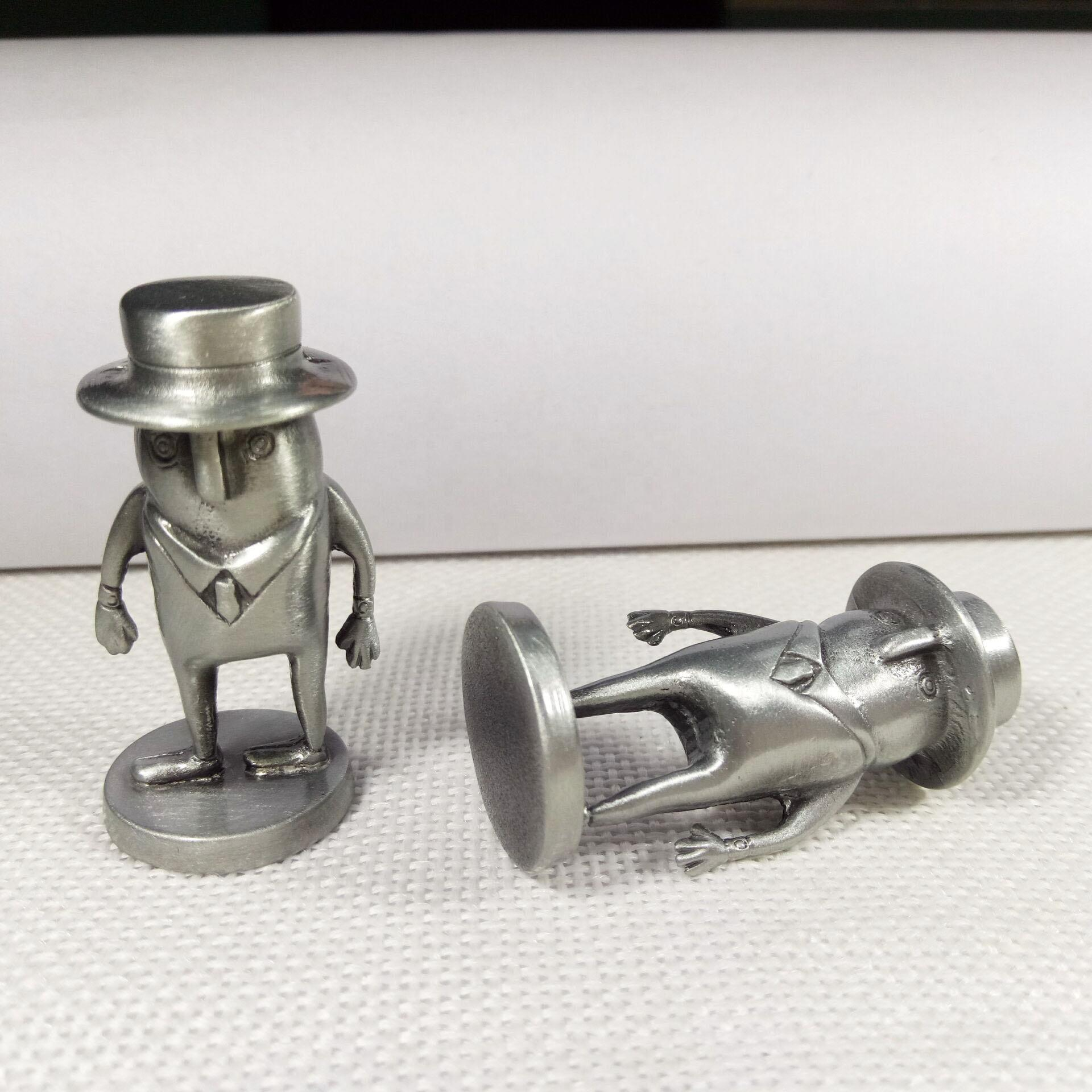 Antique silver alloy 3d metal sculpture japan cartoon character figure for home decoration