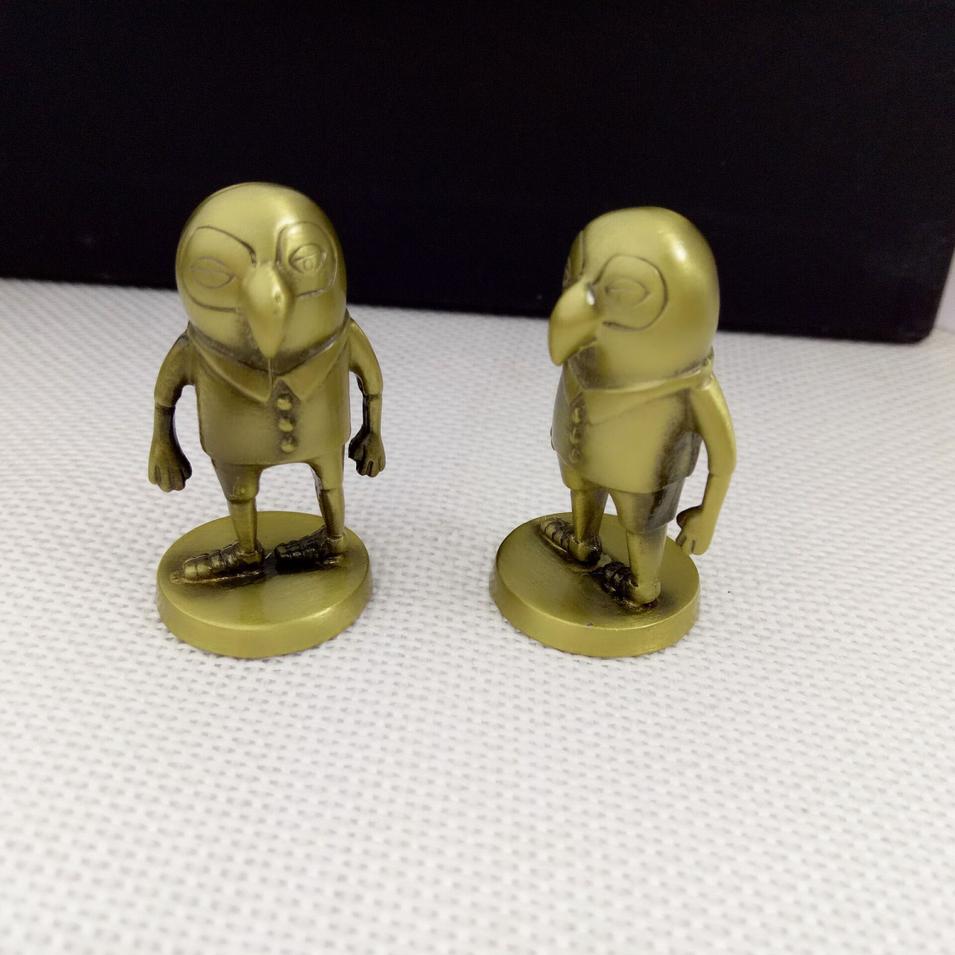 Custom made japanese carton movie 3d metal statue for desk decoration