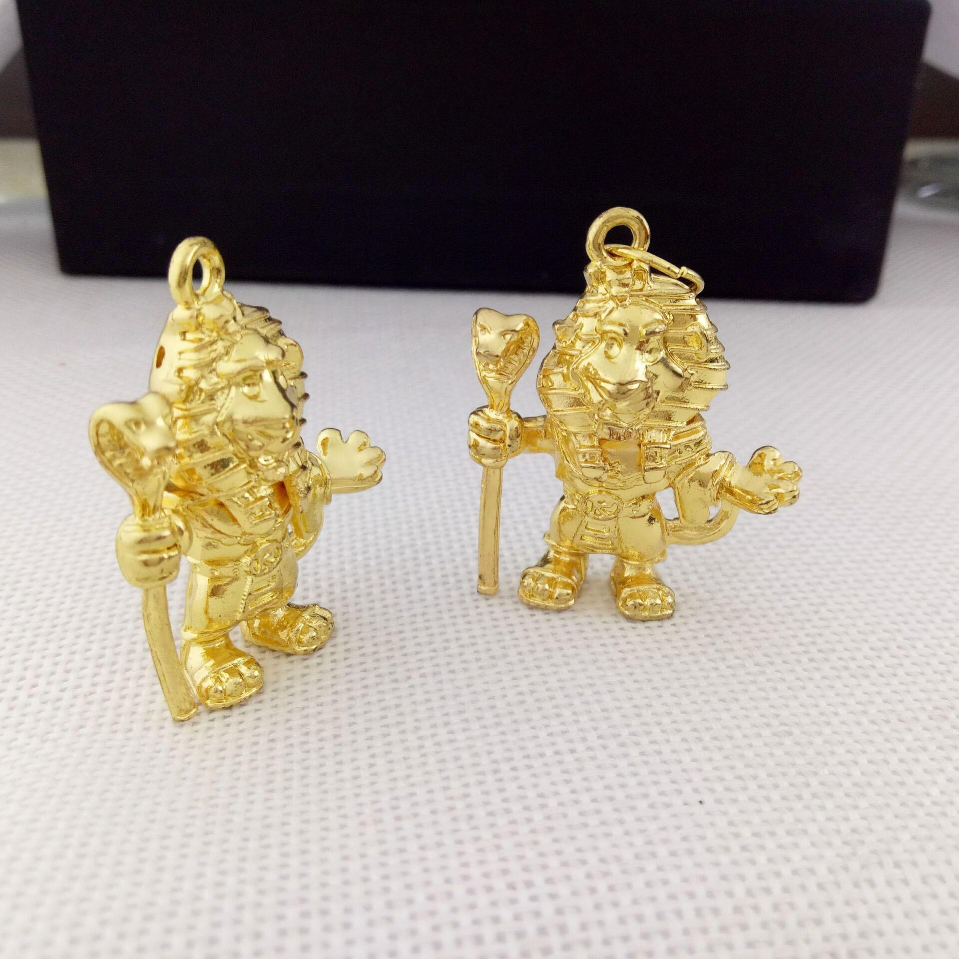Gold plated custom 3d metal pendants,3d metal charm