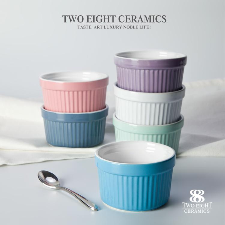 strip color ramekin bowl mini ceramic bowl