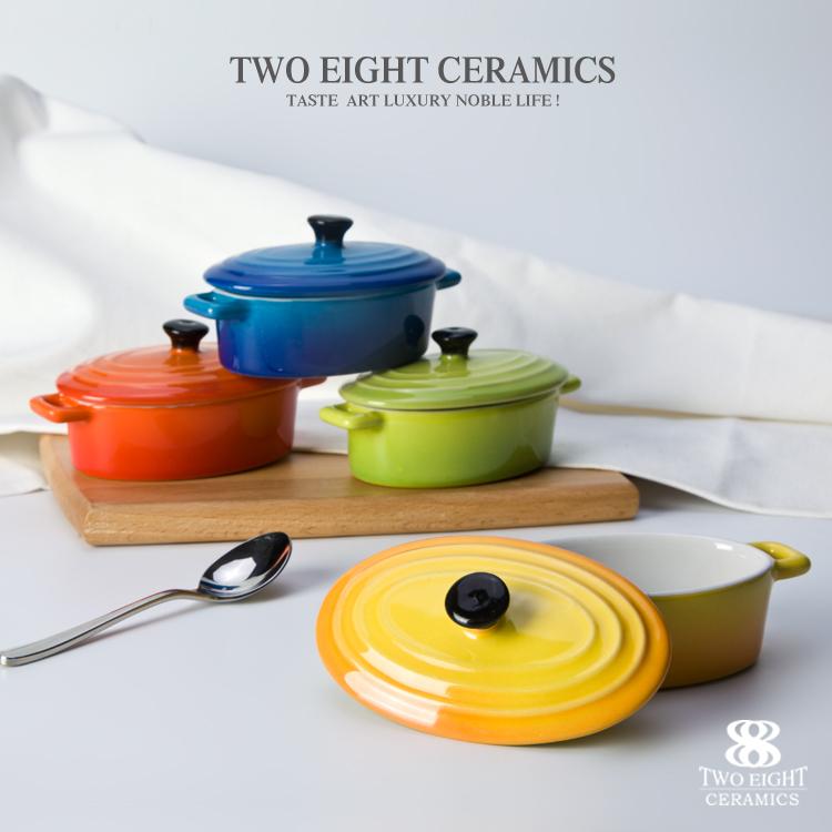 FDA & LFGB color ceramics cast iron casserole cast iron stewpot cast iron casserole
