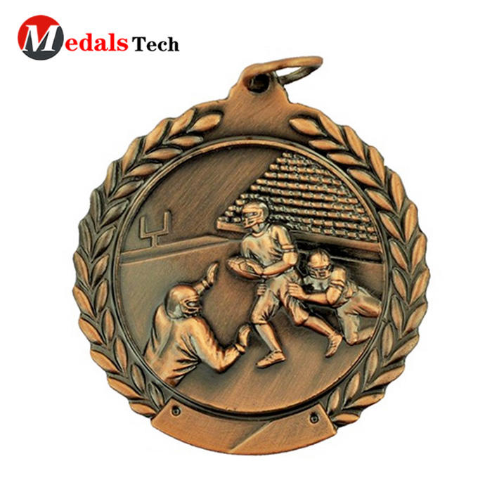 Fast produce wholesale Swimming Football Baseball Badminton Table Tennis sports meet custom medals basketball