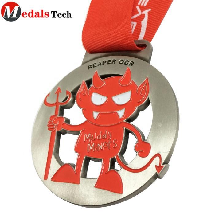 Wholesale bulk simple antique faith classic cross running award religious medal gold