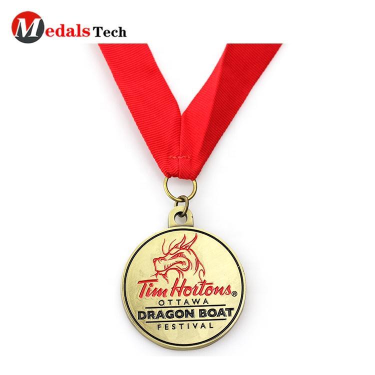 Free Artwork 24K Gold Plating Soft Enamel Zinc Alloy Sublimation Lanyard Medals Awareness Medals