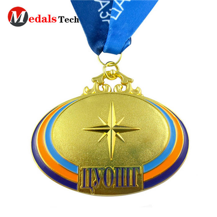 Factory Price Running MakeSoft Enamel Metal Medal With Ribbon