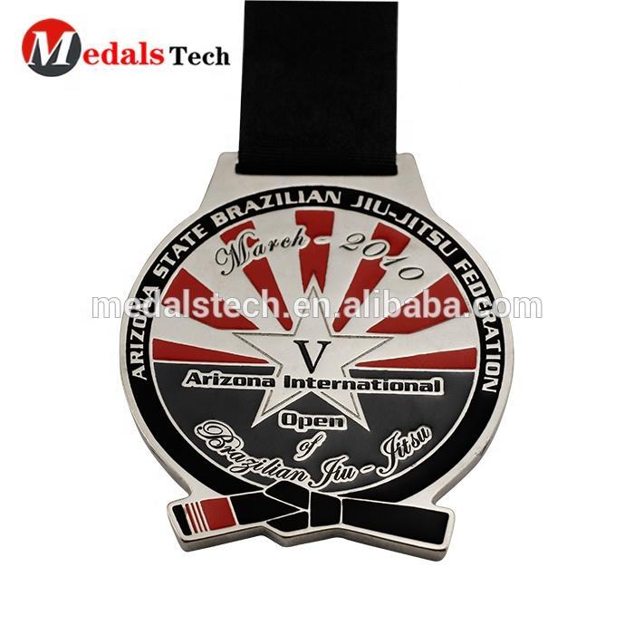 Hot sale metal customized unique cheap jiu-jitsu medal for souvenir