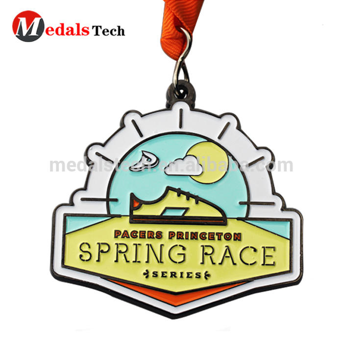 Factory price plating zinc alloy race design your own metal brass plated running custom medals award