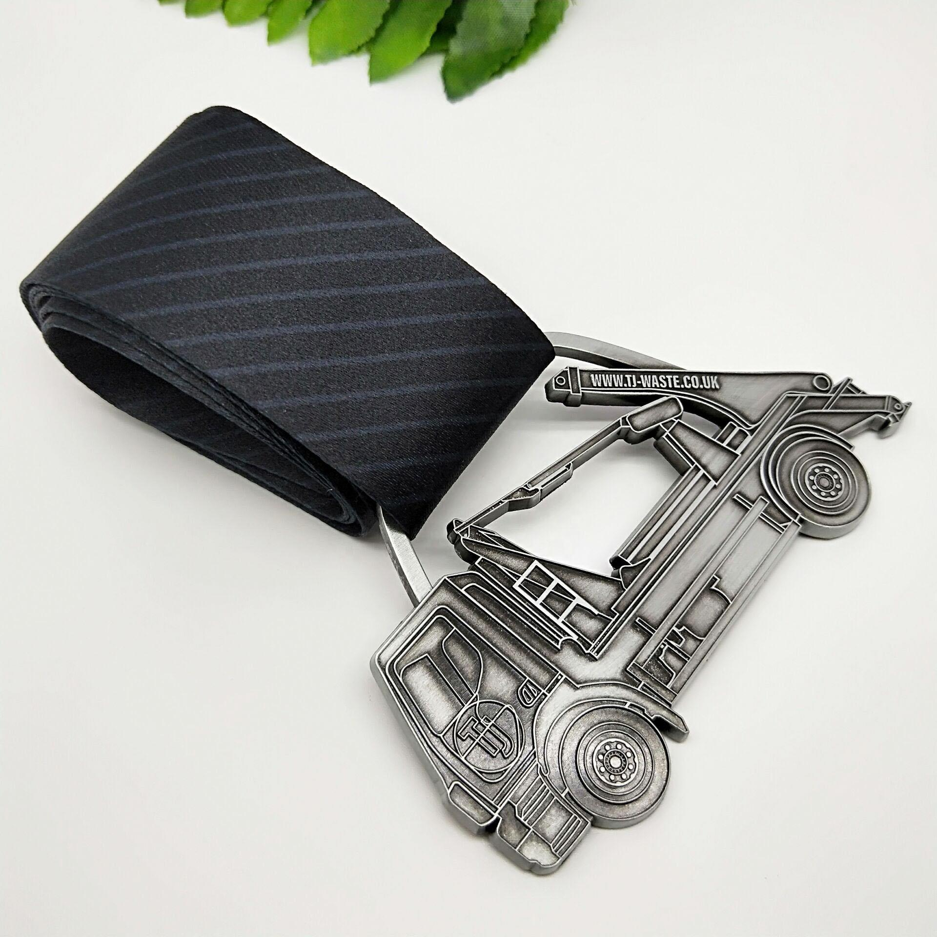 Fast delivery 5000m Timing challenge heart logo antique silver sports run achievement medals